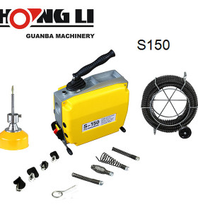 Hongli s150 eléctrica serpiente limpiador de desagües