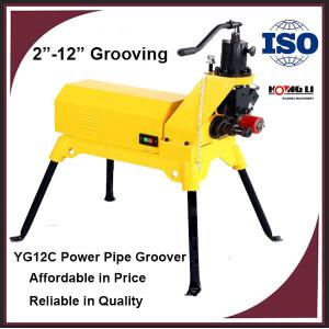 YG12C Tubería Hidráulica Eléctrica Máquina Groover
