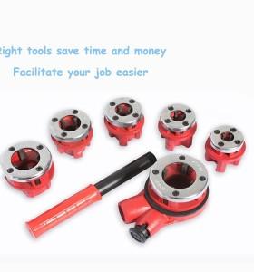 Hongli tubería roscadora kit/herramienta roscadora de tubos/tubería kit herramienta roscadora