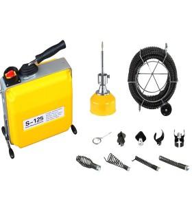 S125 alcantarilla limpiador/limpiador de drenaje de alambre/inodoro limpiador de desagües