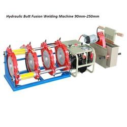 Hongli hidraulica de fusión a tope de tuberías de plástico máquina de soldadura (90mm-250mm)