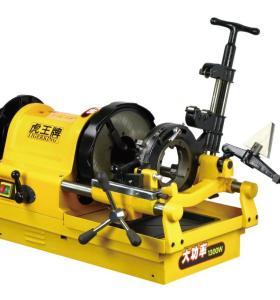 SQ100A-G虎王1/2-4寸高速电动切管套丝机镀锌水管套丝机4寸管子螺纹套丝机