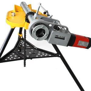 虎王H401三脚架式台钳1/8-6寸电动套丝机配件重负荷三脚架台虎钳管子支架托架