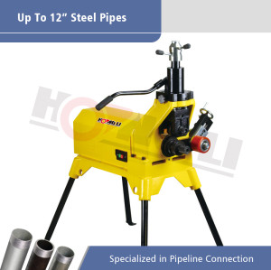 YG12E Hydraulic Pipe Grooving Machine for Max 12