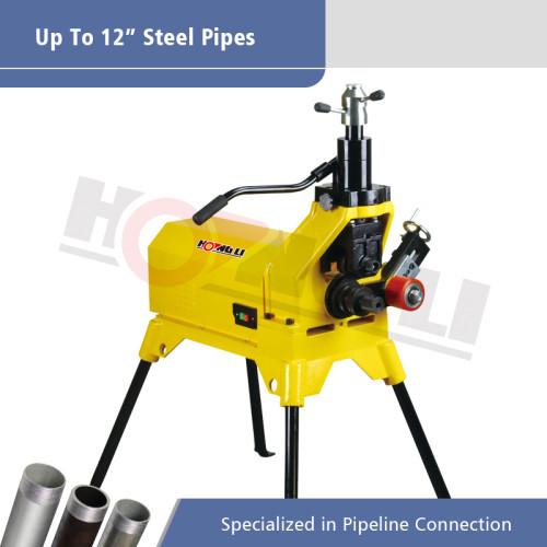 Máquina ranuradora de tubos hidráulicos YG12E para tubos de acero de 12