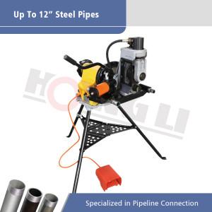 Máquina de ranurado por laminación portátil YG12A para tuberías de acero de 12