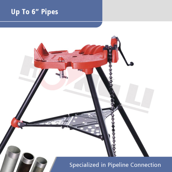 H401 Pipe Tri-stand Chain Vise untuk Pipa 1/8