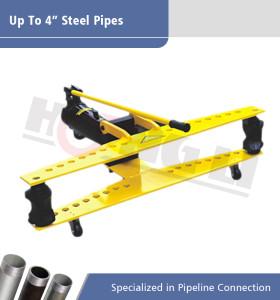 Dobladoras hidráulicas manuales de tuberías serie HHW con ruedas