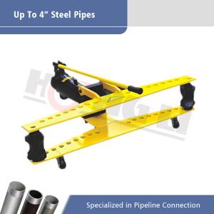 HHW Series Hydraulic Manual Pipe Benders dengan Roda