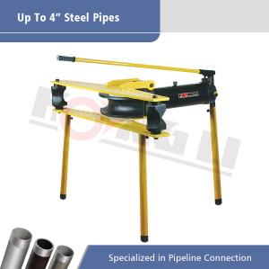 Dobladoras hidráulicas manuales de tuberías serie HHW-J con soporte
