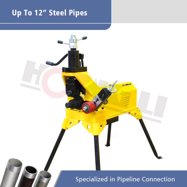 Ranura hidráulica de rodillos YG12D para tubos de acero de 12