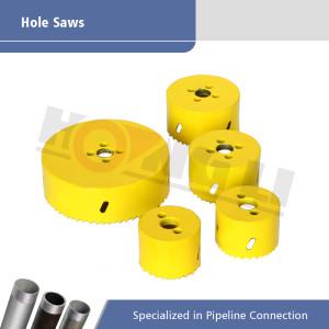 HSS Sierras de corona para máquinas de corte con orificio de acero