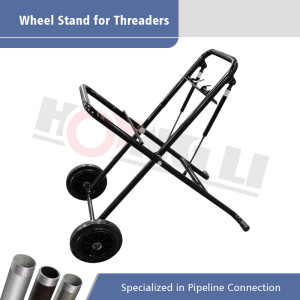 HL-250 Pneumatic Folding Wheel Stand untuk Mesin Threading