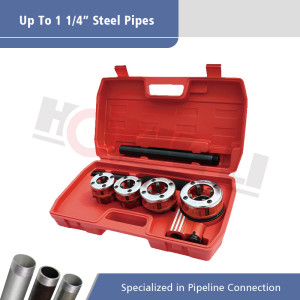 HL-62B Hand Pipe Threader With Carrying Case for Pipes of 1/2 Inch to 1 1/4 Inch in Diameter