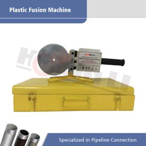 Mano de la máquina de fusión de plástico