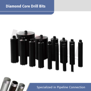 Laser Welded Core Drill Bits with Connecting Threads of 1 1/4 Inch to 7 UNC