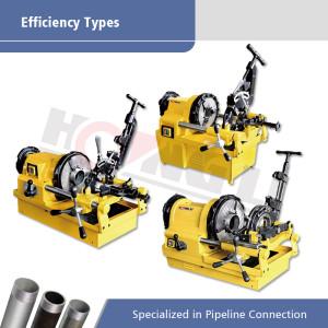 Tipos de eficiencia de máquinas para roscar tuberías eléctricas en promoción para tuberías de hasta 4 pulgadas