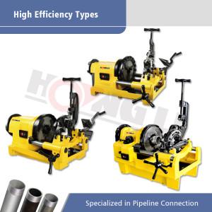 Высокоэффективные типы машин для нарезки труб с электропроводом для продвижения труб до 4 дюймов