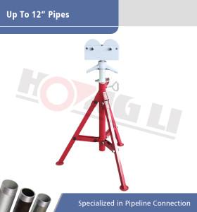 1109 Roller Head Pipe Stand para tubos de 12 pulgadas máx.