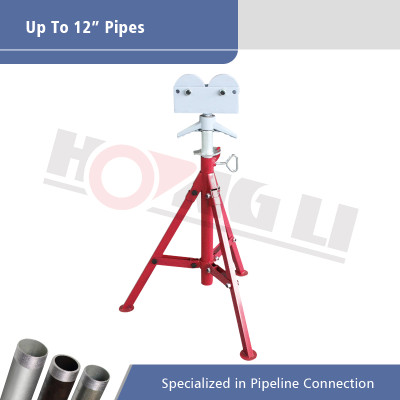 1109 Roller Head Pipe Stand untuk Max 12 Inch Pipes