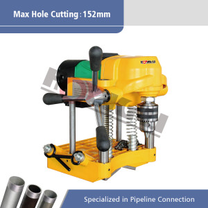 JK150 Portable Pipe Lubang Cutting Machine untuk 12