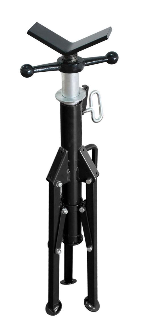 虎王1107/1107S管子托架1/2-6寸重负荷滚轮头管子托架套丝滚槽机切管机可调高度支架