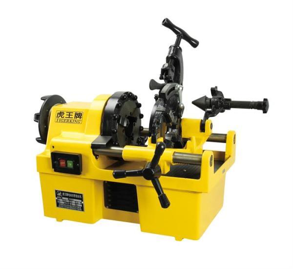 虎王SQ50电动套丝机1/4-2寸高效燃气化工管道多功能套丝机