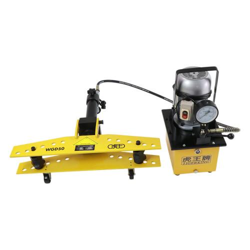 虎王WG50 WG80 WG100手动液压弯管机1/2-4寸整体式弯管机