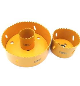 虎王M3管道开孔器通用孔锯双金属机械三通镀锌钢管开孔机钻头配件