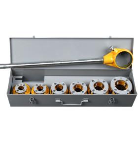 12R虎王1/2-2寸手动管子套丝机镀锌钢管水管棘轮手动套丝机轻型管子铰板体