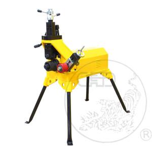 YG12D-F虎王2-12寸衬塑管滚槽机重型DN50-325衬塑钢管口压槽机滚槽机