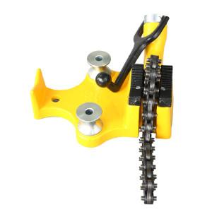 虎王H402台式链钳1/8-6寸台钳管虎钳支架简易手动弯管器