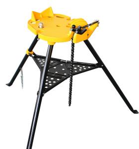 H401虎王1/8-6寸三脚架式台钳电动套丝机配件重负荷三脚架台虎钳管子支架托架