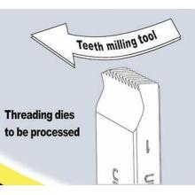 Full Teeth Milling HSS Pipe Threading Dies