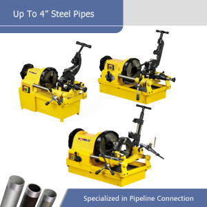 More Efficiency Types of Electric Pipe Threading Machines Powerful for Pipes up to 4 Inch