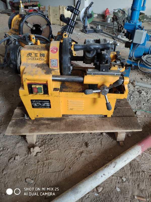 hongli pipe threading machine in customers worksite