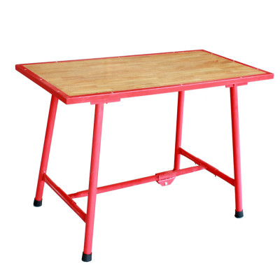 H403 Foldable Work Bench with Solid Wood Board for Carpentry Work