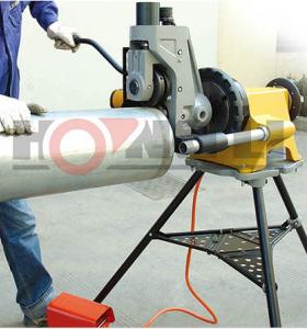 Yg12a hidraulica de 12 pulgadas de buena calidad tubo de máquina de corte de ranura
