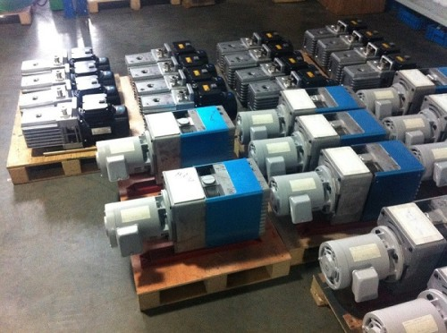 LVD90 two stage 25L/s direct drive oil rotary vane vacuum pump