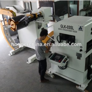 자동 uncoiler 기계 교정기 및 서보 피더 기계