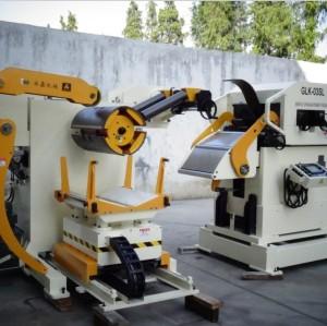 자동 uncoiler 교정기와 피더 기계 yaskawa 시스템 서보