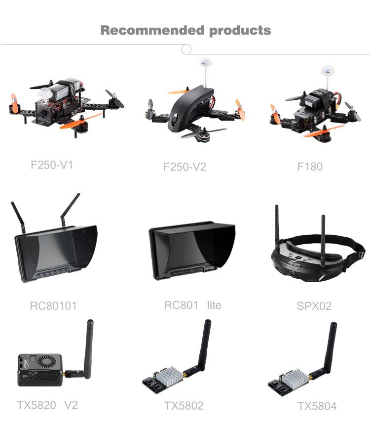 Flysight SPX01 5.8G 1080p Diverstiy AIO built-in battery video camera glasses