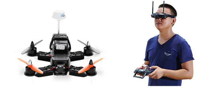 Everything you need for FPV racing( Speedy F180 racing copter,HD camera,RC transmitter,goggles etc.) is in the backpack!Just carry it on your back,let's go to enjoy the crazy FPV feeling!