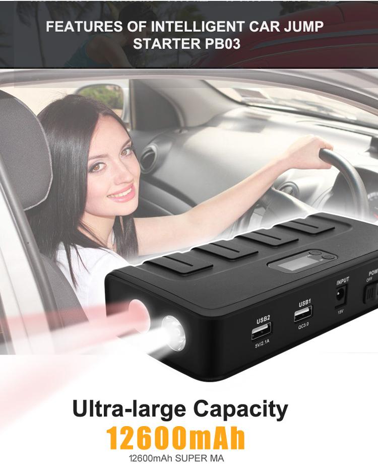 Features of Intelligent car jump  starter PB03
