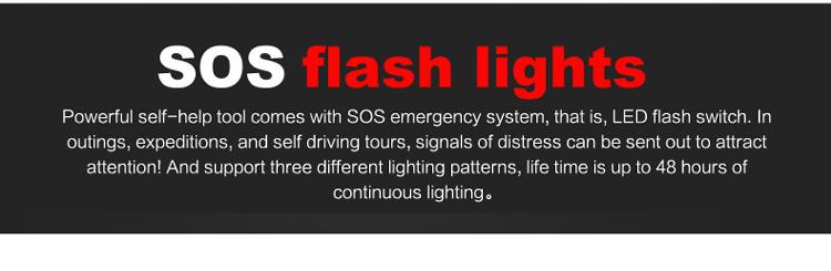 SOS flash lights