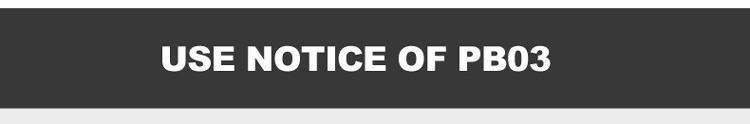 Use Notice of PB03