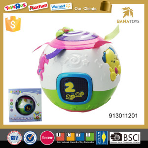 Indoor Baby  electronic funny play music shining light  animal toy plastic rolling ball