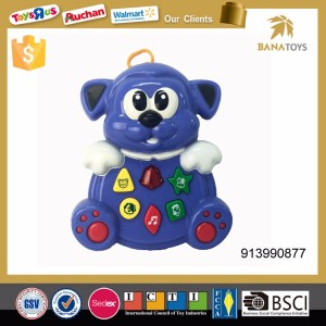 Plastic cartoon musical baby rattle animal toy hand bell