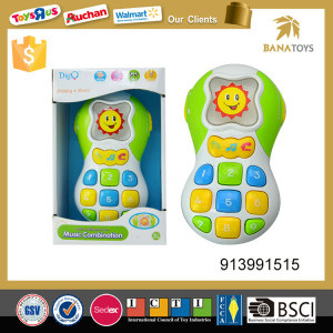 Baby electric cartoon animal mobile phone plastic with light and music