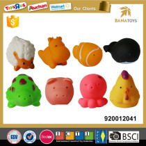 Cute colorful Baby plastic spray water animal bathtub toys set